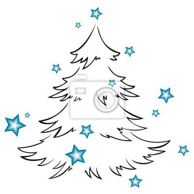 Symbol Weihnachtsbaum.Bild Weihnachtsbaum Symbol Mit Sternen