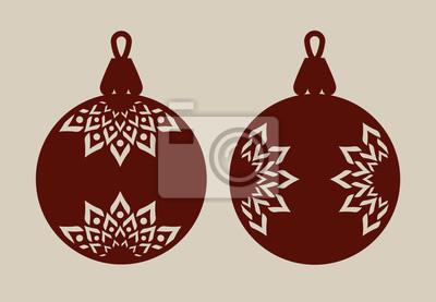 Plotterdatei Set Weihnachtskugeln Muster 1