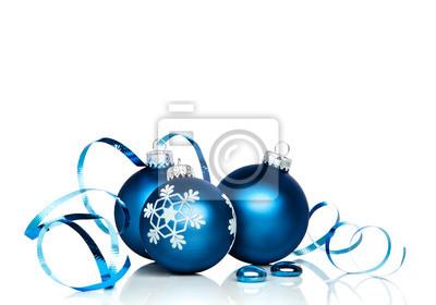 Weihnachtsschmuck und Band mit weißen Kopie Raum