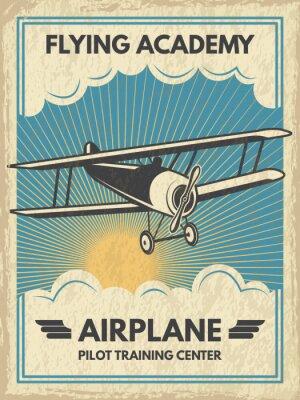 Bild Weinlese-Aircaft-Poster. Vektor-Illustration