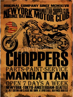 Bild Weinlese-Motorrad-T-Shirt Grafik