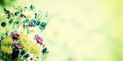 Bild Weinlese-Postkarte mit wilden Blumen
