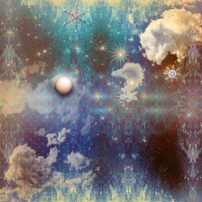 Bild Weinlese Sternenhimmel