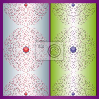 Weinlese-violetten Hintergrund. Abbildung 10 Version