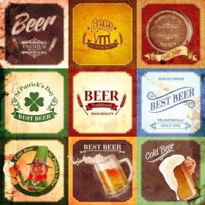 Bild Weinlesefahne Bier