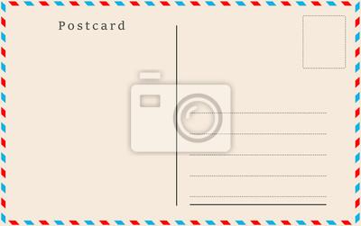 Bild Weinlesepostkarte. Vektor-Design.