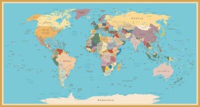 Bild Weinleseweltkarte