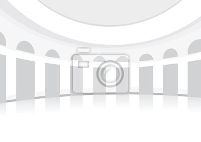 Weiß Halle zum Tanzen, abgerundeten, vornehm, Hintergrund
