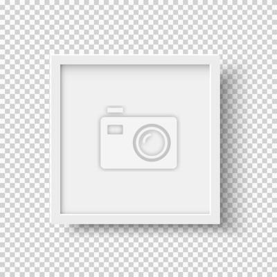 Bild Weiß realistische quadratischen leeren Bilderrahmen auf transparenten Hintergrund