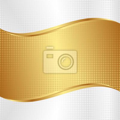 Bild Weiß und Gold abstrakten Hintergrund