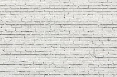 Bild Weiße Backsteinmauer