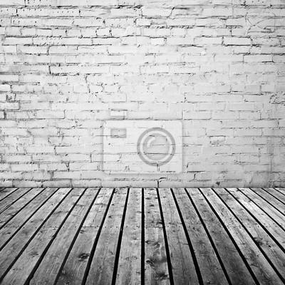 Weisse Mauer Und Grauer Holzboden Leinwandbilder Bilder Schmutzigen