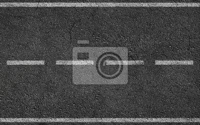 Bild Weiße Streifen Auf Asphalt-Straße