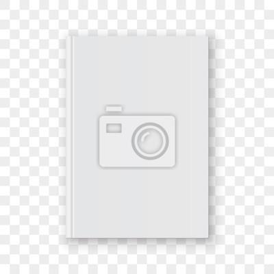 Bild Weiße vertikale Designschablone des Bucheinband-freien Raumes. Vector das leere Bucheinband-Modellmodell, das auf transparentem Hintergrund lokalisiert wird