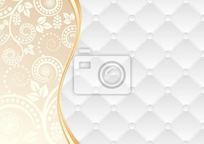 Bild weißen und gelben Hintergrund mit Muster