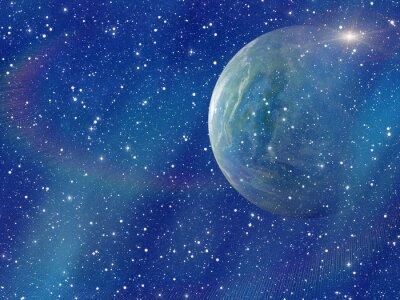 Bild Weißer Blitz des Raumplaneten. Kosmos himmel hintergründe