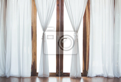 Weißer Vorhang Leinwandbilder Bilder Appartment Drapieren Sessel