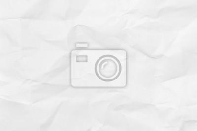 Bild Weißes Blatt Papier. Closeup zerknittertes weißes Papier Textur. Zerknittertes weißes Papier Hintergrund mit Kopie Platz für Text oder Bild.