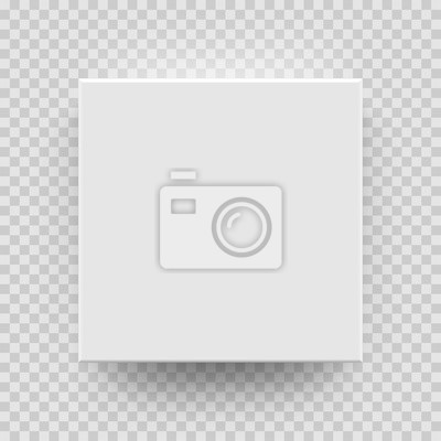 Bild Weißes Kastenspott herauf Draufsicht des Modells 3D mit Schatten. Vektor isoliert leeren Karton öffnen oder Whitepaper Matchbook Container Box Paketvorlage auf transparenten Hintergrund