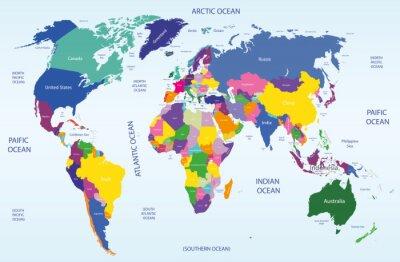 Bild Welt geographische und politische Karte