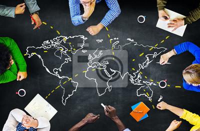 Bild Welt Global Ecology Internationale Unity Learning-Konzept