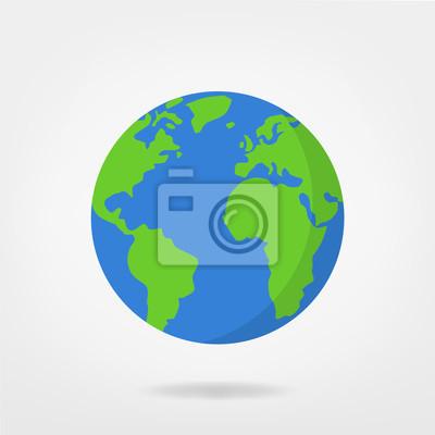 Bild Welt Illustration - Planeten Erde Vektor-Grafik