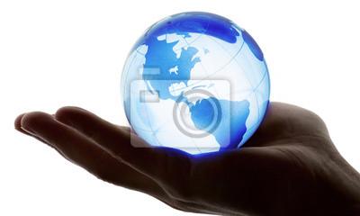 Bild Welt in der Hand und globalen Internet-und Business