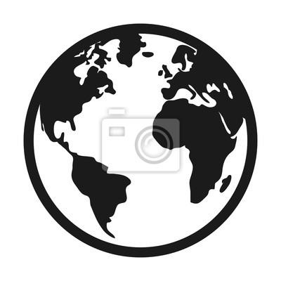 Bild Welt-Planet Erde isoliert Symbol Vektor-Illustration-Design