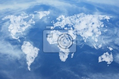 Weltkarte aus Wolken