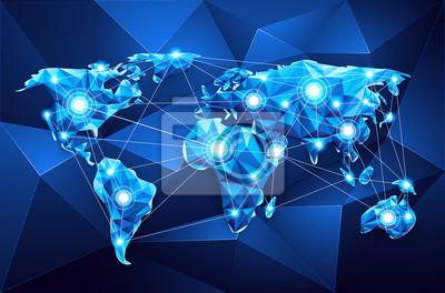 Bild Weltkarte. Global Network