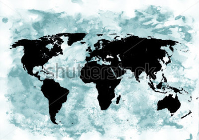 Bild Weltkarte Hintergrund. Grunge hintergrund Abstrakte emotionale Kunst. Modernes Gestaltungselement.