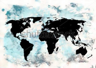 Bild Weltkarte Hintergrund. Grunge hintergrund. Abstrakte emotionale Kunst. Modernes Gestaltungselement.