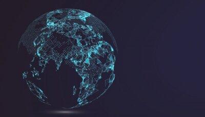 Bild Weltkarte Punkt, Linie, Zusammensetzung, die globale, globale Netzwerk-Verbindung, internationale Bedeutung.