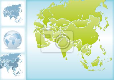 Landkarte Asien.Bild Weltkugel Weltkarte Landkarte Asien Karte 2