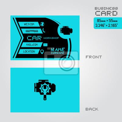 Werkstatt Auto Visitenkarte Leinwandbilder Bilder