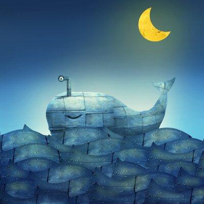 Bild Whale in Blue