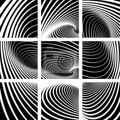 Whirl-Bewegung. Abstrakte Hintergründe gesetzt.