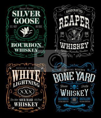 Bild Whiskey-Label-T-Shirt-Grafik-Set