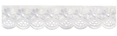 Bild White cotton embroidered lace