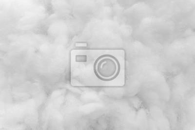 Bild White cotton texture is soft, fluffy wadding background