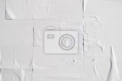 Bild White creased poster texture. Abstract background.
