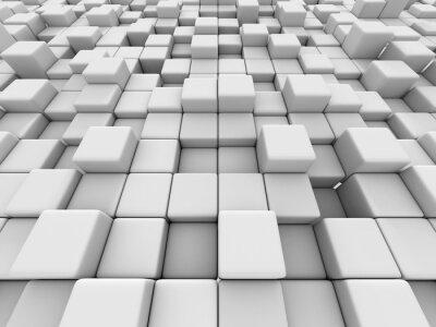 Bild White Cubes Wand 3d Hintergrund