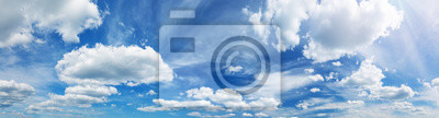 Bild white fluffy clouds on blue sky in summer