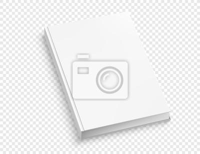 Bild White hardcover book vector mock up isolated on white background.