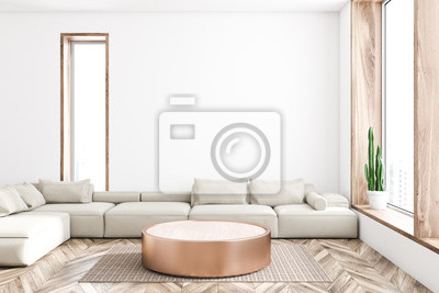 Bild White living room interior
