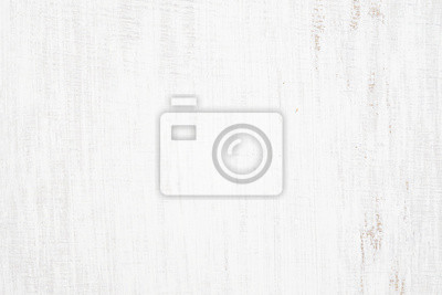 Bild White painted wood texture seamless rusty grunge background, Scratched white paint on planks of wood wall.