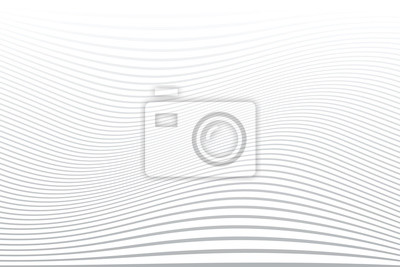 White wavy lines background. Abstract striped texture.