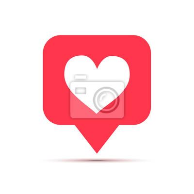 Bild Wie Ikone des Sozialen Netzes in der Herzform auf Weiß