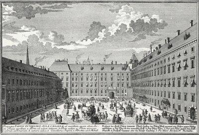 Bild Wien, Innerer Burghof um 1725, Kupferstichvorlage
