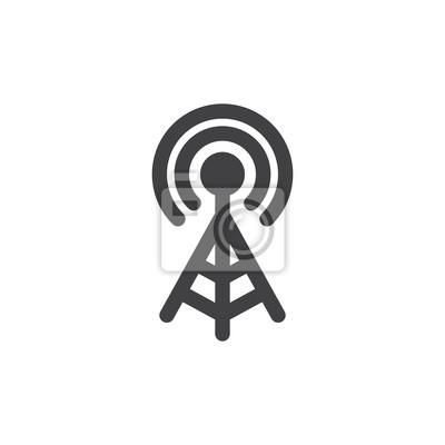 Wifi-signal-antenne symbol vektor, gefüllt flache zeichen, solide ...